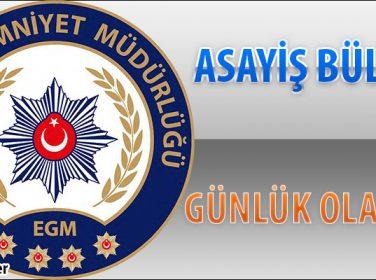 Malatya Asayiş Bülteni Günlük Olaylar  08 – 14 Ocak 2018