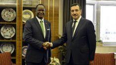 Bakan Tüfenkci, Kenya Büyükelçisi Kilonzo'yu kabul etti