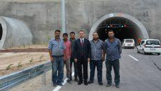 @ValiToprak Malatya – Sivas Karayolu üzerinde yapımı devam eden Tünellerde incelemelerde bulundu.