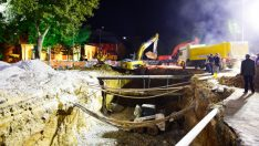 Malatya Atatürk anıtı kavşağında kazı çalışmaları tamamlandı