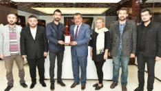 Ak Partili Gençler, Selahattin Gürkan'ı Ziyaret Etti