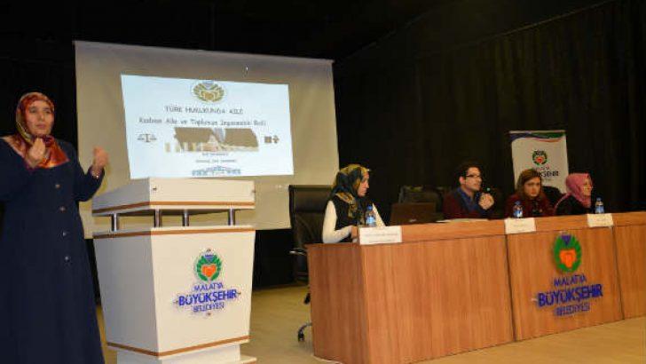 """MADEM ile Malatya Barosu işbirliğinde """"Türk Hukukunda Aile"""" paneli düzenlendi."""