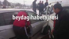Araştırma Hastanesi Kavşağında Kaza 1 Yaralı