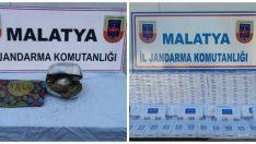 Malatya'da Jandarma , Esrar ve Kaçak Sigara Ele Geçirildi