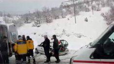 Malatya Karahan Tüneli Çıkışında Kaza  1 kişi