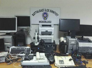 Malatya'da çok sayıda hırsızlık malzemesi ele geçirildi