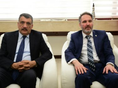 Bem-Bir-Sen Genel Başkan Yardımcısı Gürkan Alper, Battalgazi Belediye Başkanı Selahattin Gürkan'ı ziyaret etti