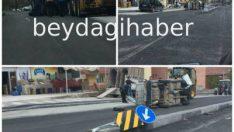 Malatya'da Refüje Çarpan Otomobil