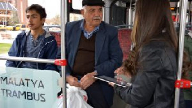 Malatya'da halkın yüzde 73'ü toplu taşıma hizmetinden memnun