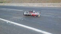 Çat Barajı Yolunda Kaza 1 Yaralı