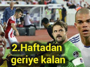 Süper Ligde ikinci hafta da geride kalırken, futbol severler 9 maçta 31 gol izlediler.