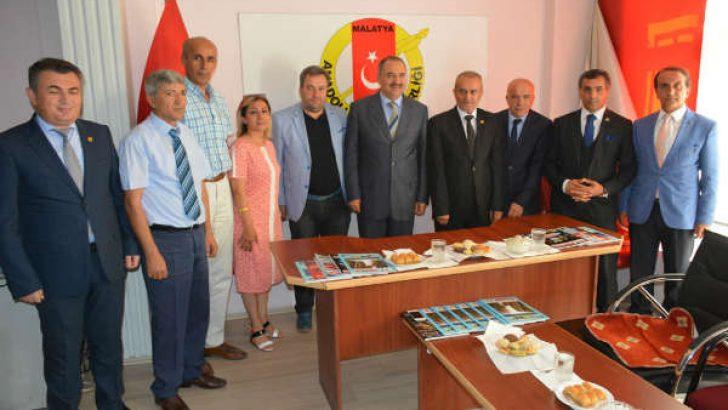 Vali Ali Kaban. Anadolu Basın Birliği Malatya Şubesini Ziyaret Etti