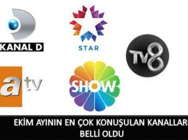 Ajans Press, televizyon ekranlarının Ekim raporunu hazırladı.