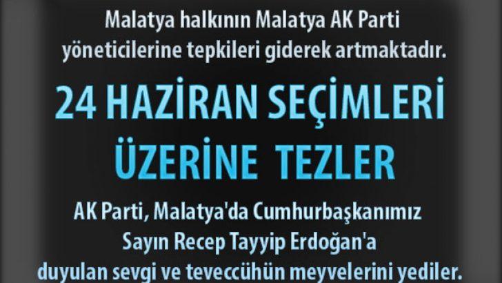 Malatya Milliyetçi Hareket Partisi, her seçimde aday gösterdikleri adaylardan vazgeçmelidir.