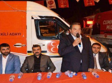 Malatya'da MHP Sesleri , Orduzu'da coşkulu sokak mitingi