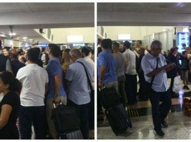 Malatya Erhaç Hava Limanında Yolcuların Bekleyişi Sürüyor. @anadolujet
