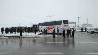 Akçadağ Yol Ayrımında Kaza.. 4'ü  Ağır 15 Yaralı  1 Kişi Hayatını Kaybetti  8 Şubat 2019