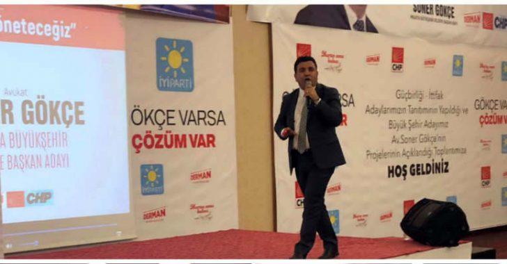 CHP Malatya Büyükşehir Belediye Başkan Adayı Avukat Soner Gökçe, Malatya'nın 16 yıldır kötü yönetiliyor dedi