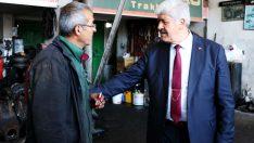İYİ Parti Battalgazi Belediye Başkan Adayı Ali Ekinci, Yeni Sanayi Sitesi esnafını gezerek esnafın sorunlarını dinledi
