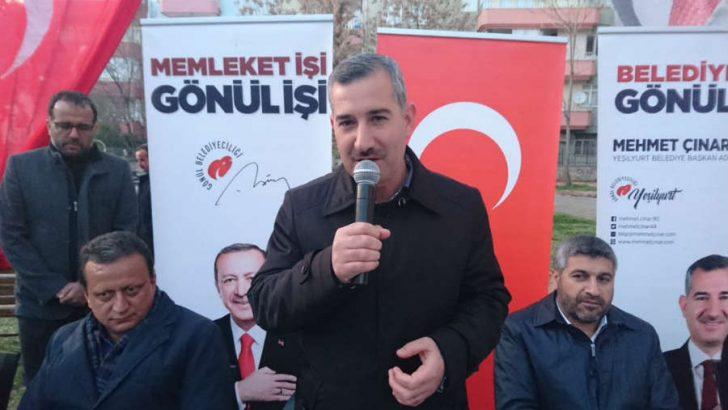 """Çınar : """"31 Mart'ta Yeşilyurt'ta yeni bir destan yazacağız ve sandıktan zaferle çıkacağız"""""""