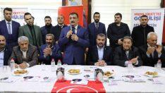 Gürkan, buradaki konuşmasında dünün, bugünün ve geleceğin belediye başkanı olma vizyonuyla çalıştığını ifade etti.