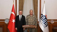 2.Ordu Komutan Vekili Korgeneral Sinan Yayla, Vali Aydın Baruş'u ziyaret etti.