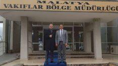 Süleyman Solmazgül, Vakıflar Bölge Müdürü Doğan'ı Ziyaret Etti
