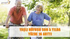 2014 yılında 6 milyon 192 bin 962 olan yaşlı nüfusu son 5 yılda yüzde 16 artış gösterdi