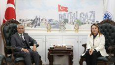 Rektör Prof. Dr.Karabulut, Battalgazi Belediye Başkanı Osman Güder'e Hayırlı Olsun Ziyaretinde Bulundu