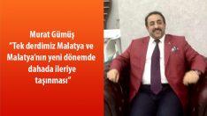 """Hasbi bir Malatyalı olan Murat Gümüş""""Tek derdimiz Malatya ve Malatya'nın yeni dönemde daha da ileriye taşınması""""dedi."""