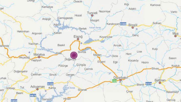 Elazığ Sivrice'de Olan Deprem Malatyada'da Hissedildi