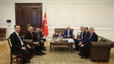 Türkiye Belediyeler Birliğine üye bazı Belediye Başkanları İçişleri Bakanı Süleyman Soyluyu ziyaret ettiler.