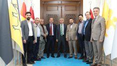 MASTÖB Başkanı Cengiz,ve yönetimi, Battalgazi Belediye Başkanı Osman Güder'i ziyaret etti