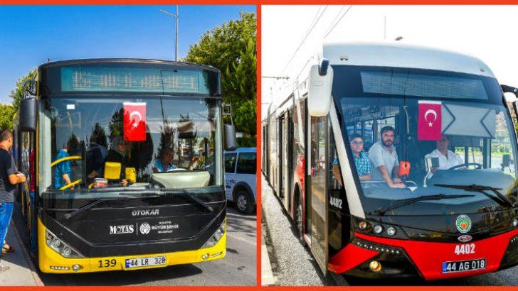 Malatya Büyükşehir Otobüs ve Trambüsleri Bayramın İlk Günü Ücretsiz