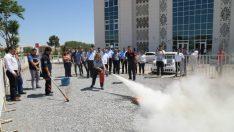 Battalgazi Belediyesi personellerine yönelik 'Temel Yangın Eğitimi' verildi.