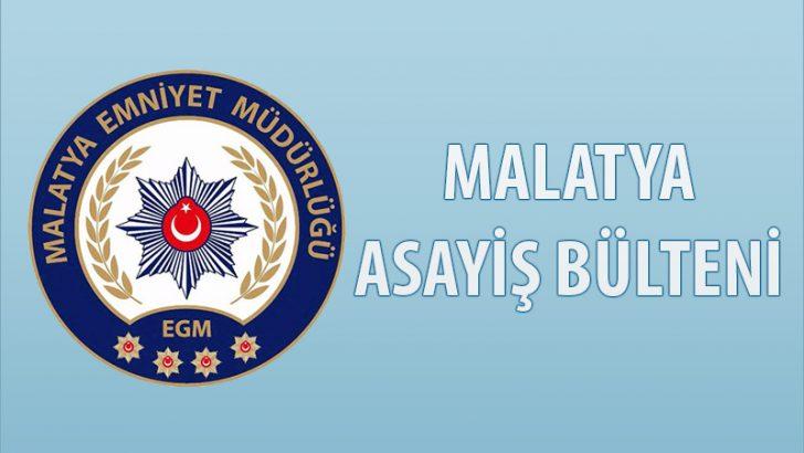 Malatya Emniyeti  Asayiş Bülteni Günlük Olaylar 27 Mayıs – 09 Haziran 2019