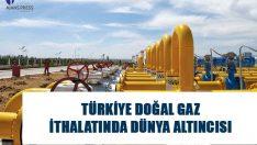 Türkiye doğal gaz ithalatında 216 ülke arasından 6. sıraya yerleşirken, 55 milyar 130 milyon metreküp ithal ettiği görüldü