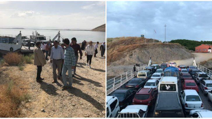 MHP'li Fendoğlu Baskil Feribot iskelesinde vatandaşın talepleri dinledi.