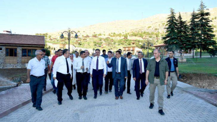 Başkan Gürkan, Vali Baruş ile birlikte İnderesi tabiat parkında incelemelerde bulundu