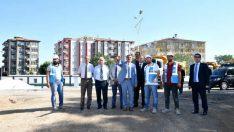 Başkan Selahattin Gürkan, 300 yataklı Devlet Hastanesi inşaat alanında incelemelerde bulundu
