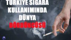 Dünyada en çok sigara tüketen ülkeler belli olurken, Türkiye'nin listenin dördüncü sırasında yer aldığı görüldü.