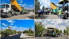 Gürkan, Battalgazi Atabey İskele yolunda devam eden genişletme ve asfaltlama çalışmalarını yerinde inceledi.
