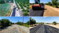 Battalgazi Atabey İskele yolunda bir yanda genişletme bir yandan da asfaltlama çalışmaları yapıyor.