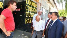 Başkan Gürkan Yazıhan ilçesinde ziyaretlerde bulunup muhtarlarla bir araya geldi