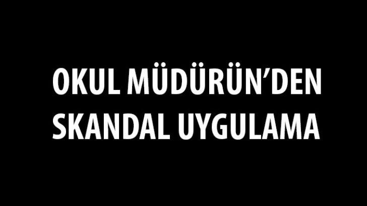 Malatya Yeşilyurt İlçesi , Farabi Ortaokulu Müdürün'den Skandal Uygulama