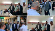 MHP Malatya İl Başkanı R.Bülent Avşar, esnaf ve hastanede hasta yakınlarını ve hastaları ziyaret ederek, istişarelerde bulundu.