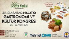 1.Uluslararası Malatya Gastronomi ve Kültür Kongresi 20-22 Aralık'ta Malatya'da yapılacak