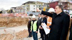 Gürkan , Yeni Devlet Hastanesi İnşaat Alanında İncelemede Bulundu