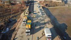 Alternatif yolun 1 km'lik kısmı açılış için gün sayıyor