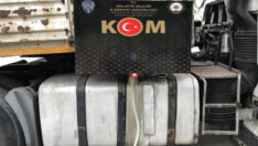 Malatya'da 590 litre kaçak akaryakıt ele geçirildi